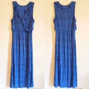 Comfy Maxi Dress w/Ruffles and Elastic Waist Sz XL